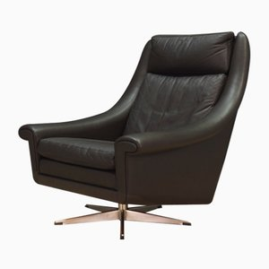 Mid-Century Leather Armchair by Aage Christensen for Erhardsen & Andersen, 1960s