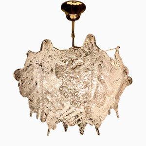 Lampada da soffitto in vetro di Murano di Paolo Venini per Mazzega, Italia, anni '70