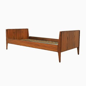 Mid-Century Danish Teak Bed, 1970s