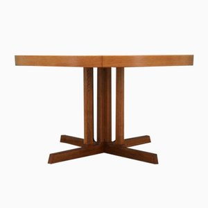 Mid-Century Danish Ash Veneer Dining Table by Johannes Andersen, 1970s
