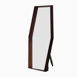 Mid-Century Scandinavian Rosewood Mirror