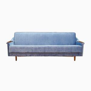 Sofá cama danés vintage de terciopelo, años 70