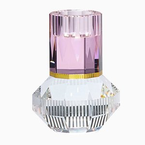 Chicago Rose/Yellow/Clear T-Light Holder by Reflections Copenhagen