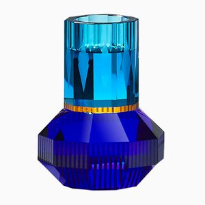 Chicago Azure/Yellow/Cobalt T-Light Holder by Reflections Copenhagen