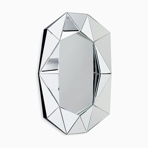Large Diamond Silver Mirror by Reflections Copenhagen