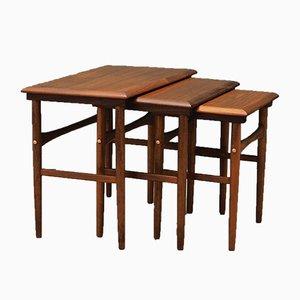 Vintage Danish Teak Nesting Tables, 1970s