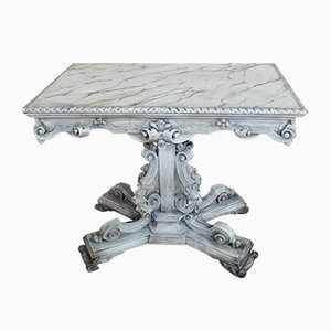 Victorian Baroque Style Italian Painted Faux Marble Centre Table