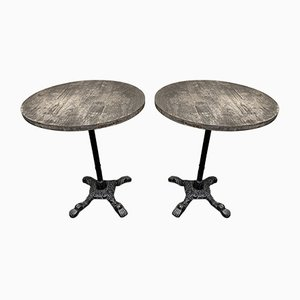 Antique Cast Iron Garden Tables, Set of 2
