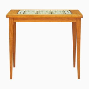 Vintage Danish Ceramic and Teak Veneer Coffee Table, 1970s