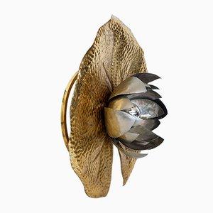 Chandeliers Modèle Ninfea Vintage en Laiton par Tommaso Barbi pour Bottega Gadda, Italie, Set de 2