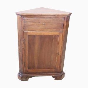 Vintage Walnut Corner Cabinet, 1950s