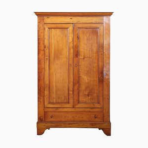 Antique Solid Cherrywood Wardrobe, 1850s