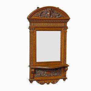 Espejo de recibidor victoriano de nogal