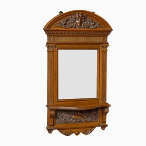 Viktorianischer Walnussholz Spiegel