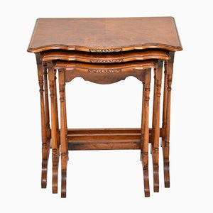 Antique Burr Walnut Nesting Tables