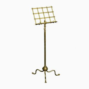 Antique Edwardian Brass Music Stand