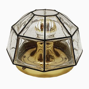 German Brass and Glass Sconce from Limburg, 1960s