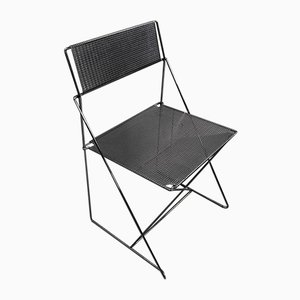 Chrome-Plated Metal Model Nuova X-Line Stacking Chairs by Niels Jørgen Haugesen for Magis, 1970s, Set of 5
