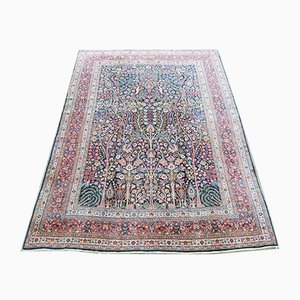Antique Middle Eastern Inscribed Tree of Life Carpet