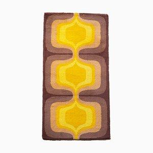Orange Brown Concentric Onion Carpet, 1970s