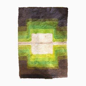 Green Concentric Square Carpet, 1970s