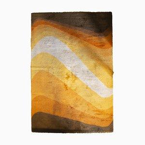Großer orange-brauner Teppich von Besmer, 1970er