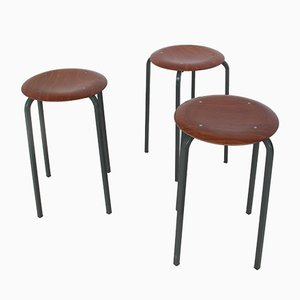 Vintage Industrial Stools from Marko, 1950s, Set of 3