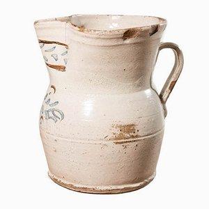 Italienischer Keramik Krug aus Grottaglie, 19. Jh