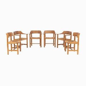 Chaises de Salle à Manger en Bois Courbé et en Bois de Pin par Rainer Daumiller, 1970s, Set de 6