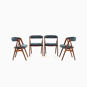 Dining Chairs by Th. Harlev for Farstrup Møbler, 1950s, Set of 4