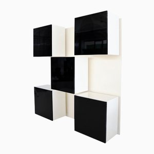 Vintage Italian Cabinet Wall System by Roberto Monsani for Acerbis, 1970s