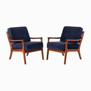 Danish Teak Easy Chairs by Ole Wanscher for Poul Jeppesens Møbelfabrik, 1970s, Set of 2