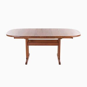 Mid-Century Danish Oval Teak Dining Table from Glostrup, 1960s