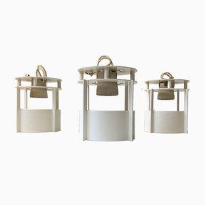 Weiße Modell Magasin Deckenlampen von Vilhelm Wohlert für Louis Poulsen, 1990er, 3er Set