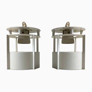 Weiße Modell Magasin Deckenlampen von Vilhelm Wohlert für Louis Poulsen, 1990er, 2er Set