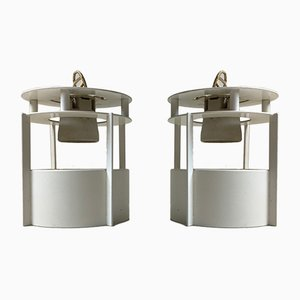 White Model Magasin Ceiling Lamps by Vilhelm Wohlert for Louis Poulsen, 1990s, Set of 2