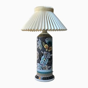 Grande Lampe de Bureau Sgraffito en Céramique par Marian Zawadsky pour Aulam Keramik, 1960s