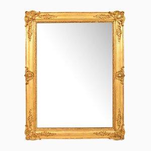 19th Century Rectangular Gold Leaf Wall Mirror
