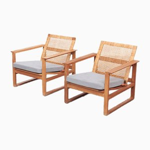 Mid-Century Lounge Chairs by Børge Mogensen for Federica, 1950s, Set of 2
