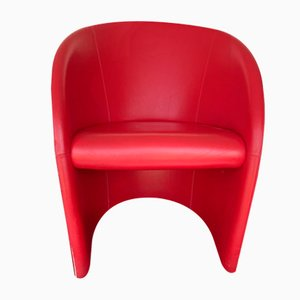 Intervista Lounge Chair by Massimo and Lella Vignelli for Poltrona Frau, 1980s