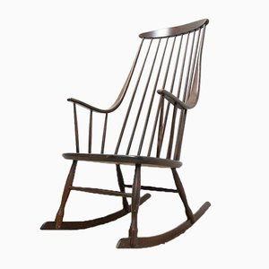 Mid-Century Swedish Rocking Chair by Lena Larsson, 1950s