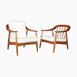 Lounge Chairs from Illum Wikkelsø, 1960s, Set of 2