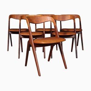 Chaises de Salon par Johannes Andersen pour Vamo Møbelfabrik, Set de 6
