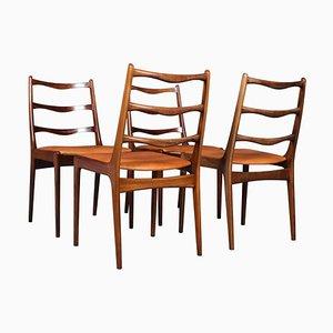 Chaises de Salon en Palissandre par Johannes Andersen, 1960s, Set de 4