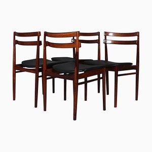 Chaises de Salon en Palissandre par Henry Rosengren Hansen, 1960s, Set de 4