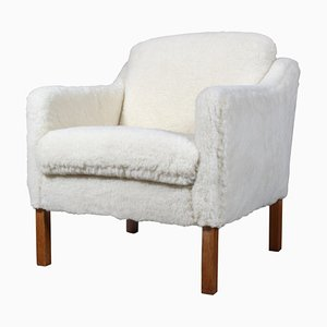 Sheep Wool Model 2321 Lounge Chair by Børge Mogensen for Fredericia, 1960s