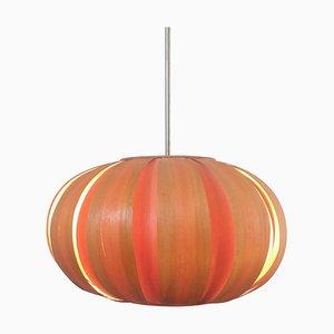 Mid-Century Wood Veneer Pendant Lamp, Denmark, 1960s