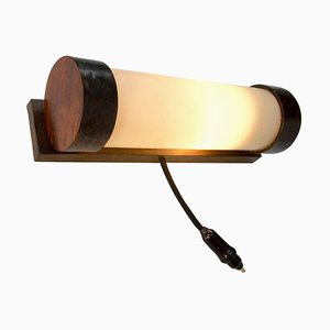Art Deco Wooden Wall Light Sconce, 1930s