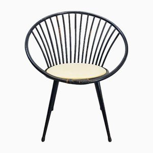 Vintage Bamboo and Rattan Circle Seat, 1950s