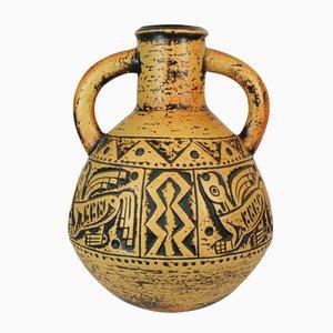 Aztekische Midcentury Vase von Jasba Keramik